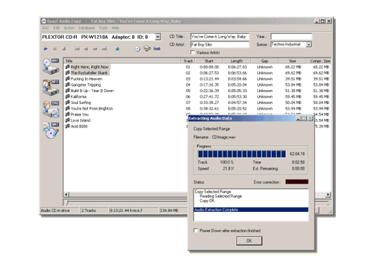 Exact Audio Copy - Transfer files from your CDs to your PC in almost every format